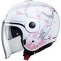 Preview: Caberg Helm Uptown Bloom weiß/silber-pink