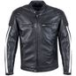 Mobile Preview: Cruise Lederjacke schwarz/weiß Herren