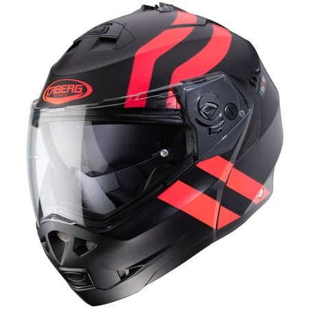 Caberg Helm Duke II Supperlegend matt-sw./fluo-rot