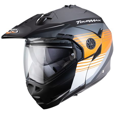 Caberg Helm Tourmax Titan matt-gun/orange-weiß