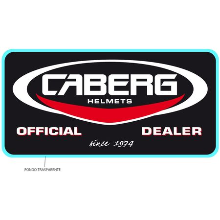 Aufkleber Caberg Official Dealer