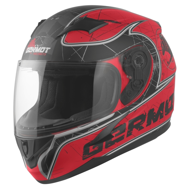 Germot Junior Helm GM 420 matt-rot/schwarz